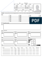 COC7e PULP NPC Sheet Villian or Major NPC FormFillable
