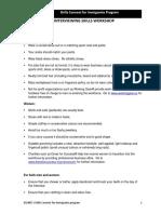 Interviewing Skills Workshop Client Handouts - Practice Questions 1