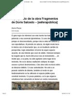 a propósito de la obra Fragmentos de Doris Salcedo – [esferapública]