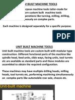 Unit Built Machine Tools