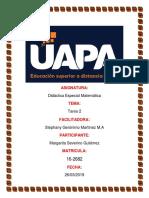 TAREA 2  DIDACTICA ESPECIAL  DE LA MATEMATICA Margarita.docx