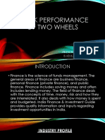 Presentation stock performance of two wheeler