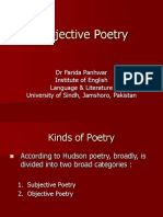 Subjective Poetry