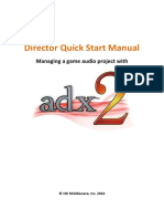 CRIWARE Audio Director Quick Start