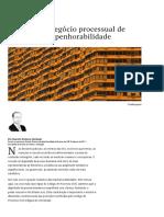 Novo CPC e Negocio Processual de Renunci
