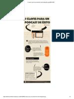 5 Claves Para Un Podcast de Exito Infografia