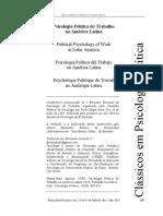 AULA 19.03 Martin Baró Psicologia Poítica do Trabalho na América Latina