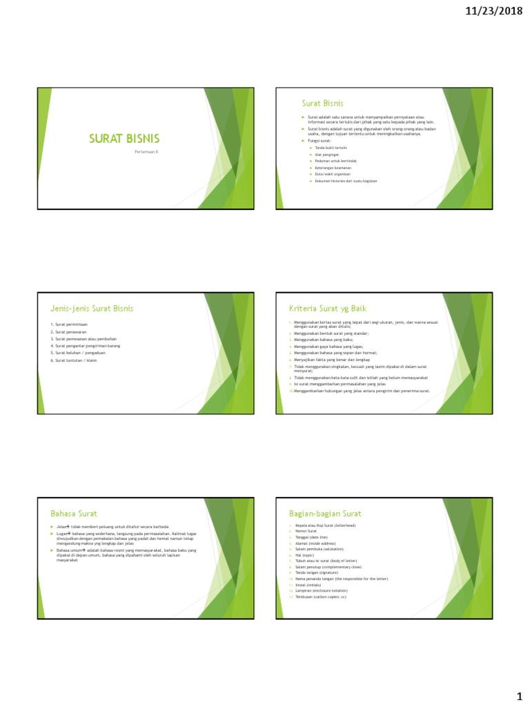 P8 Surat Bisnis