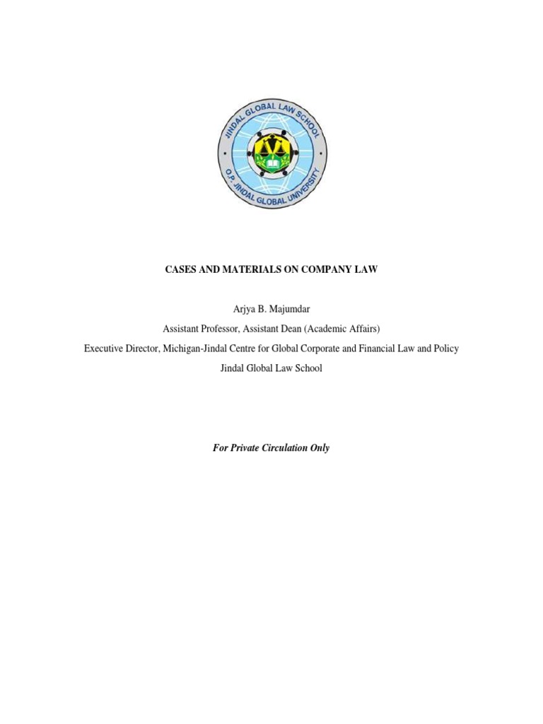 Cases and Materials on Company Law.pdf   Limited Liability   Corporations