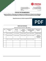 Especificaciones de Cable de Guarda PETROMIRANDA