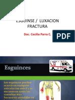 Esguinse, Luxacion y Fractura