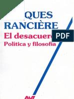 2.5. Ranciere - El Desacuerdo Cap. 1, 2 y 3