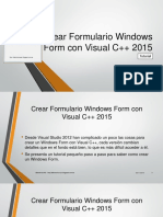 Como hacer un formulario con Visual C++ 2015