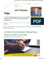 10 School Teacher Resume Writing Tips to Ensure You Shows Your Value
