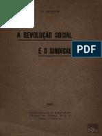 ARCHINOV - A Revolução Social e o Sindicalismo