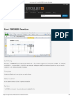 How to Use the Excel ADDRESS Function _ Exceljet