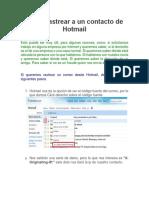 Como rastrear a un contacto de Hotmail.docx