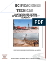 Especificaciones Tecnicas para voladura de Roca en Bolivia