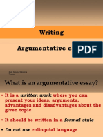 Writing - Argumentative Essay, PP