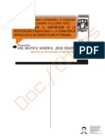 Arqueologia-Contribucion de la Investigacion arqueologica