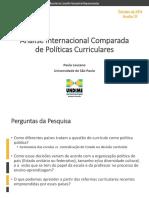 Slides Análise Internacional Comparada Currículos