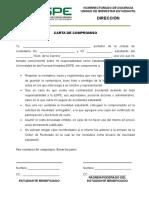 Carta de Compromiso Para Movilidad Estudiantil