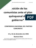 Codovilla 1946 - Los Comunistas Argentinos y El Plan Quinquenal de Peron