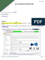 Guía Para La Instalación Del Sistema KIU
