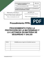 PPRL-301 Proced. Maternidad