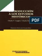 Charles Langlois y Charles Seignobos. Introducción a los estudios históricos.pdf