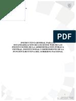 Instructivo General para Estandarización de Sitios Web