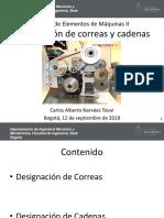 Designación Correas y Cadenas
