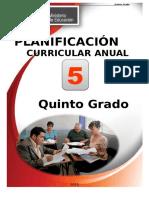 Planificacion Curricular 5º - 2018