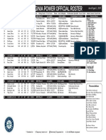 WV Power Roster - Official Roster 4219