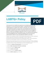 Lori Lightfoot's LGBTQ+ framework