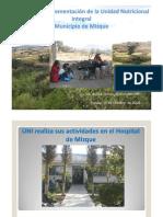 Presentación sobre la experiencia de la UNI en el Municipio de Mizque