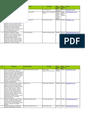 ContactListQatar xls | Hvac | Electrical Wiring