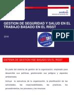 Gestión de SST Basado en El Reglamento SST. 2018