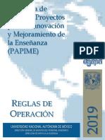 2019 Papime Reglas Operacion