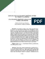 Espacio en El Verso de Juan Ramon Jimenez