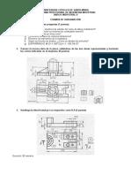 Resolucion Tercer Examen Dibujo en Ingeniería i