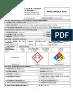 Hidroxido de Calcio 72 HDS