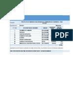 Programacion Inicial de Provision y Dotacion de Materiales