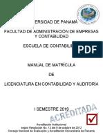 FAECO Manual Matricula 1sem 2019 Auditoria