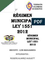 Regimen Municipal Ley 1551