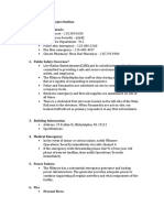 internship special project outline