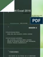 Microsoft Excel 2016 - SESIÓN 3