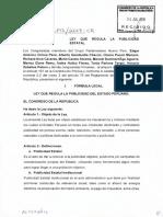 PL 3142 Presentado Por El Congresita Ochoa