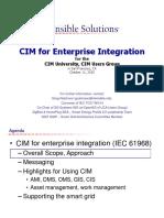 CIM for Enterprise Integration (IEC) 61968