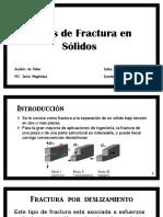Modos de Fractura en Sólidos, Análisis de Fallas (1)